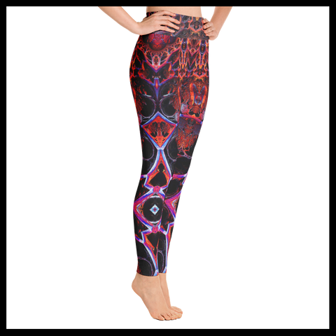 Fricky Fractal Yoga Leggings