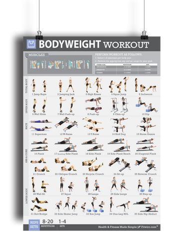 Bodyweight Exercise Workout Poster