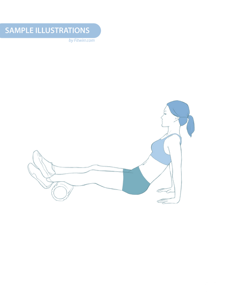 "Foam Roller Exercise Poster - Laminated - 24""x36"" - FITWIRR SHOP"