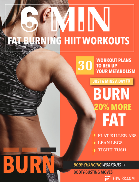 6-Minute Daily Fat Burning Workouts for Women HIIT PDF - (E-Book)