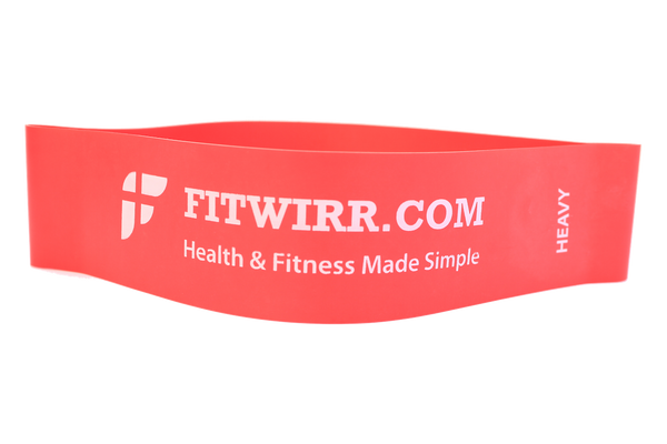 "Mini Exercise Bands: Set of 5 Mini-Bands + 24""X36"" Workout Poster - FITWIRR SHOP"