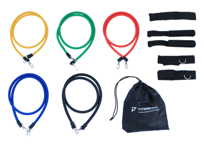 Stackable resistance band set