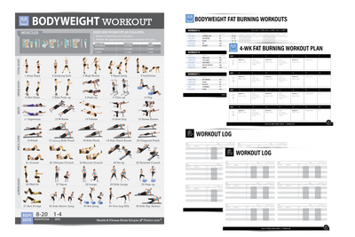 Bodyweight Exercise Poster: 4-Week Workout Plan for Women