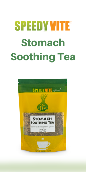 SpeedyVite Stomach Soothing Tea - Gently Aides the Digestive System