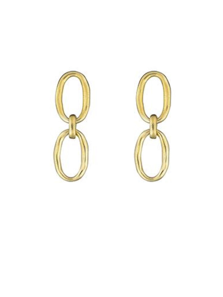 Earrings | Link Chain Studs Gold