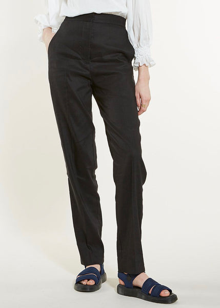 Pants | Stretch Linen Metropolis (Black)