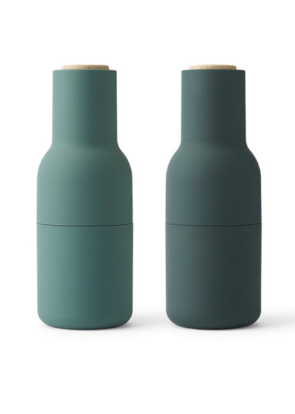 Bottle Grinder | Dark Green with Beech Lid