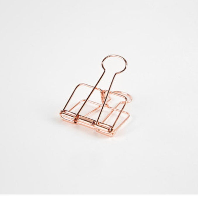 Bull Dog Clips | Rose Gold