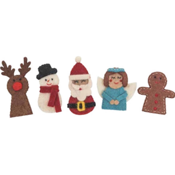 Decorations | Christmas Finger Puppets