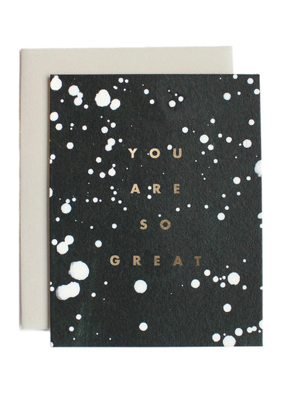 Card | You are so great