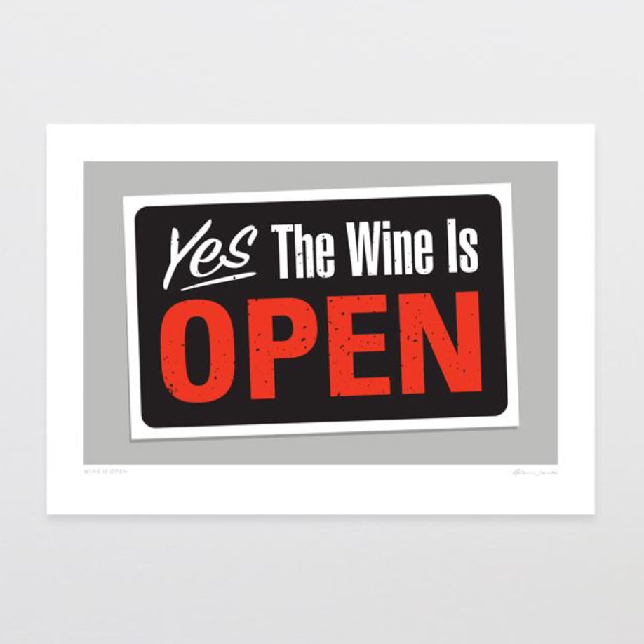 Art Print | Wine is open