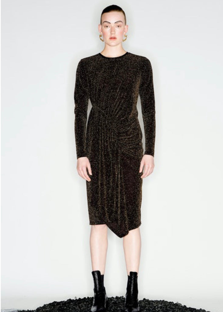 Dress | Magmatic Mini (Black/Gold)