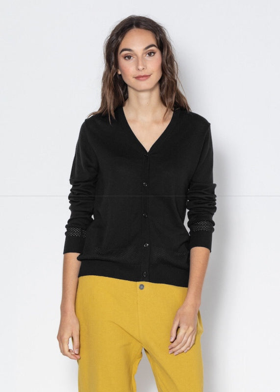 Cardigan | Vee (Black)