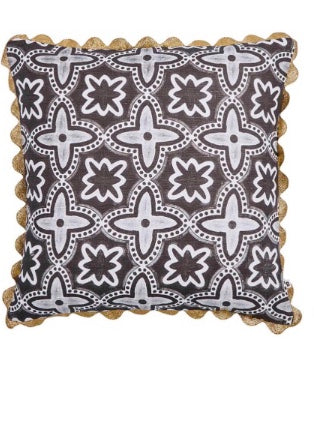 Cushion | Daintree Tile (Black)