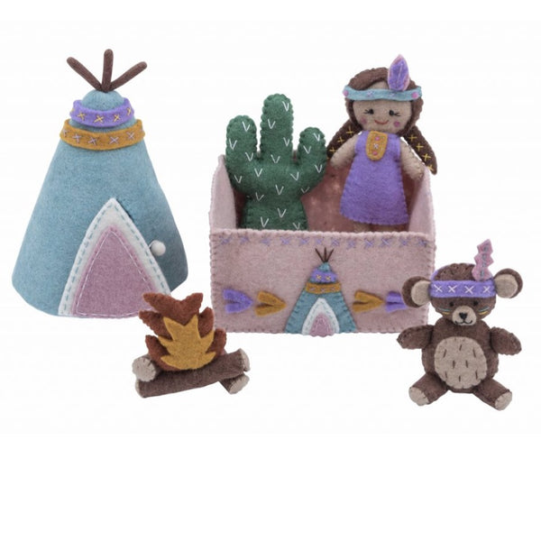 Playset | Girl & Teepee