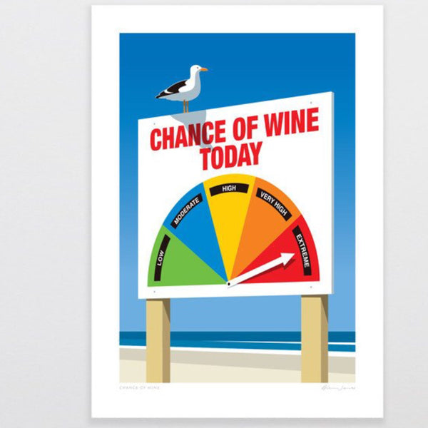 Art Print | Chance of Wine