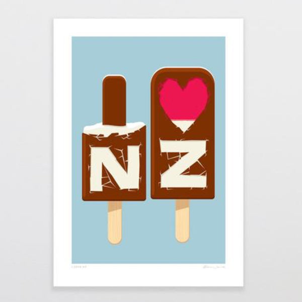 Art Print | I love NZ