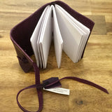 Handmade Leather Notebook | Dark Purple