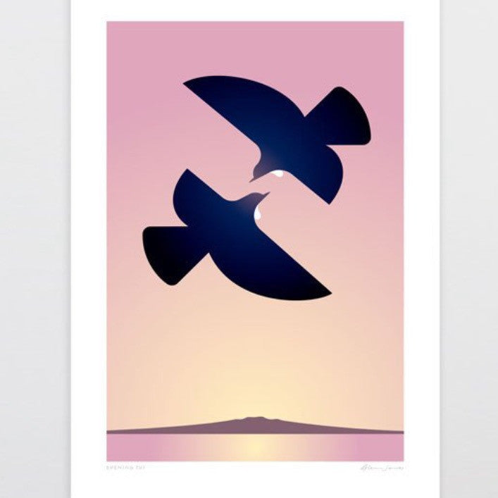 Art Print | Evening Tui