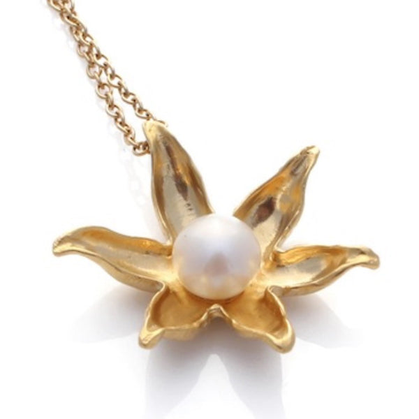 Necklace | Gold Floating Lotus