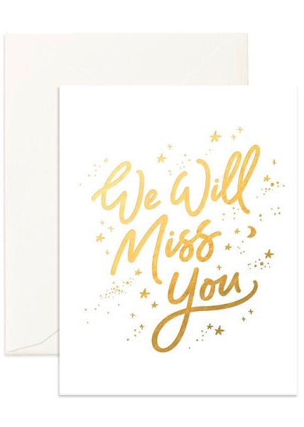Card | Miss You White Stars