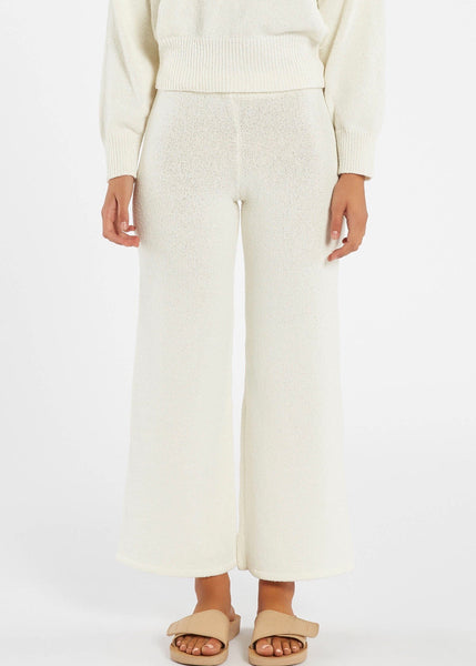 Pants | Whitewash Knit (Warm White)