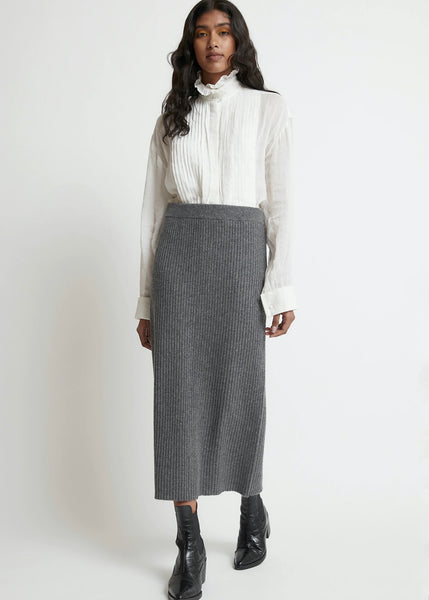 Skirt | Penelope Knit (Dark Grey Marle)