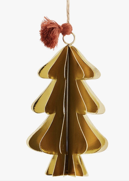 Decoration | Hanging Christmas Tree (Gold)
