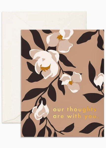 Card | Our Thoughts Magnolias