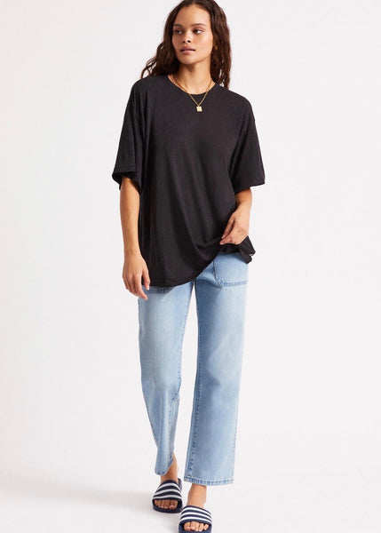 Top | Montauk Oversized Tee (Slate Blue)