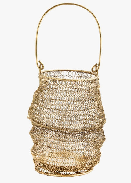 Lantern | knitted Wire (Brass)