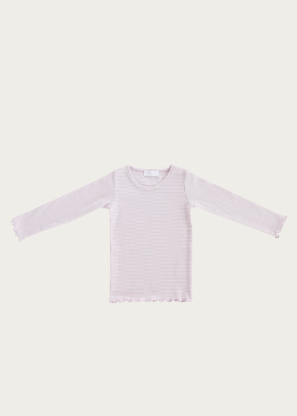 Madison Top | Lavender Stripe