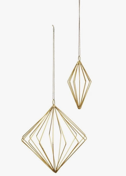 Decoration | Hanging Cones - Set of two (Brass)