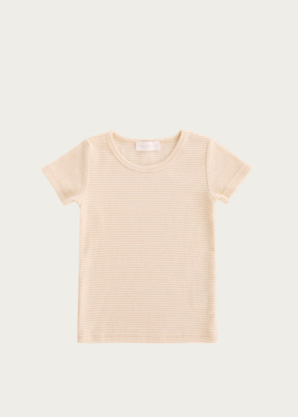 Tommy Tee | Honey Peach Stripe
