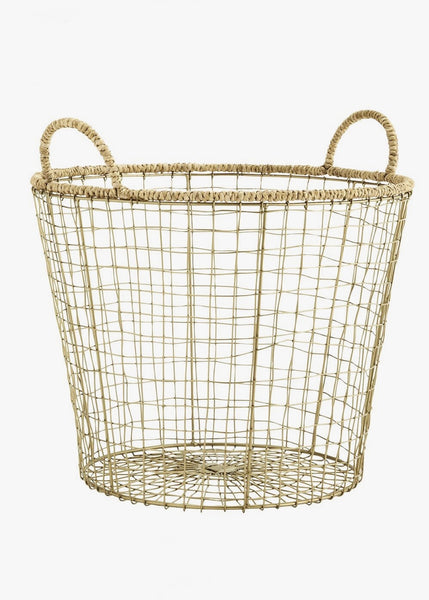 Basket | Wire Brass (Large)