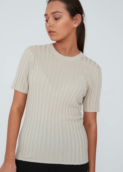 Top | Revolve Knit Tee (Natural)