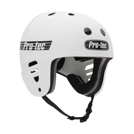 Protec Full Cut Skate Gloss White Helmet