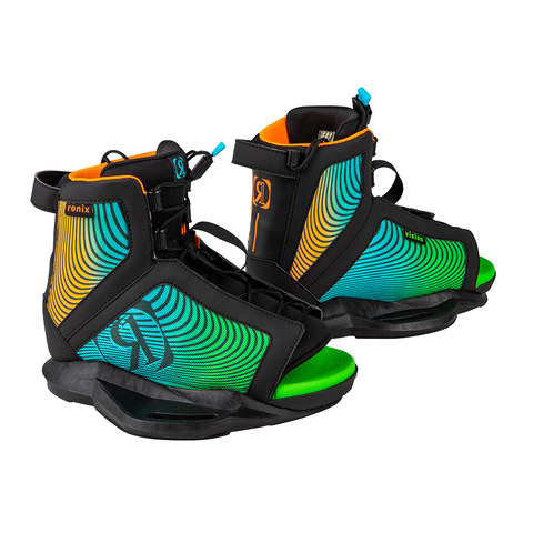 2021 Ronix Vision Boots - Black / Orange / Green