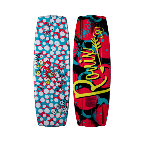 2021 Ronix August Wakeboard - Sparkle White/Pink/Blue/Yellow