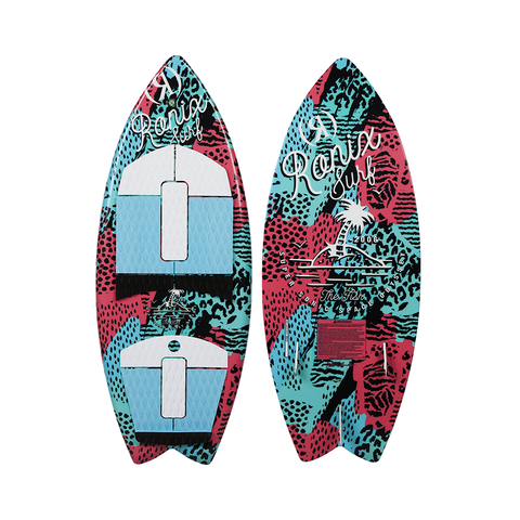 2021 Ronix Super Sonic Space Odyssey Wakesurfer - Girls Fish - Coral / Mint / Black