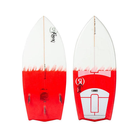 2020 Ronix Women's Flyweight Bat Tail Thruster - Pink / White