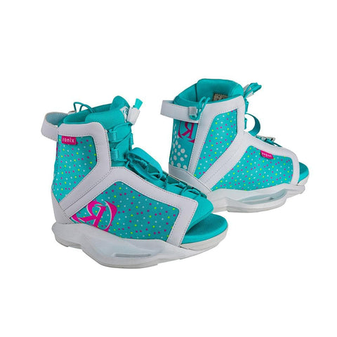 2020 Ronix August Boots 2-6 - White/Pink/Blue Orchid