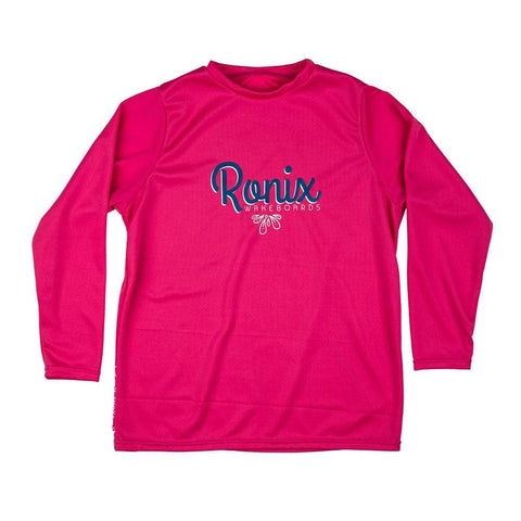 2020 Ronix Youth Quick Dry Long Sleeve Top - Pink / White