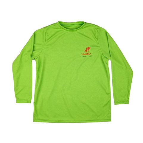 2020 Ronix Youth Quick Dry Long Sleeve Top - Lime / Black