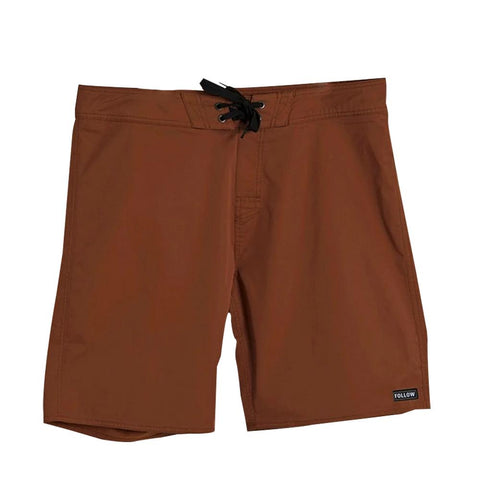 2021 Follow Simple Mens Boardie - Rust