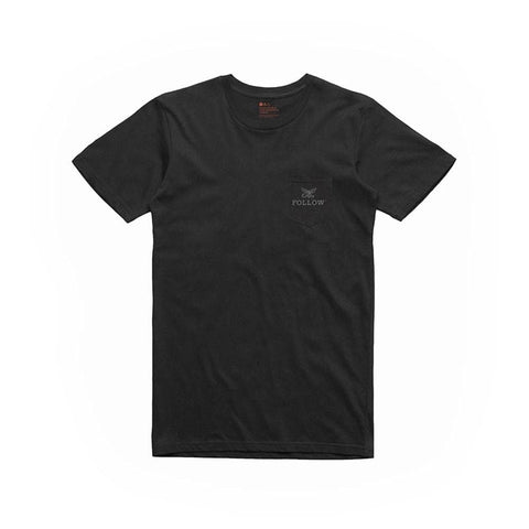 2020 Follow Pocket Tee - Black