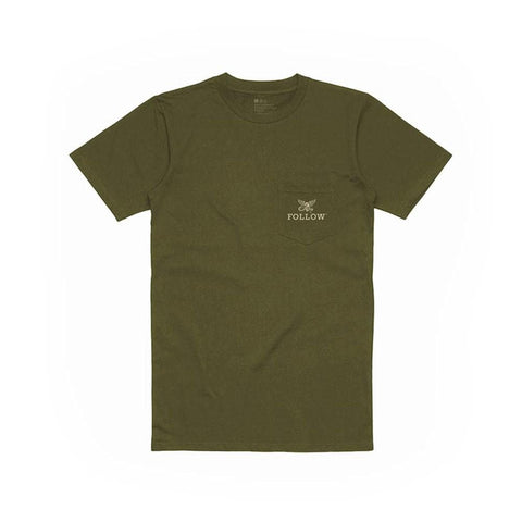 2020 Follow Pocket Tee - Olive