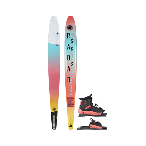 2021 Radar 63 TRA Ski with Lyric Boots Package - White / Blue / Coral