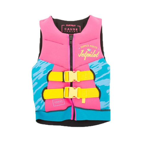 2020 Jetpilot The Cause F/E Kids Neo Vest - Pink