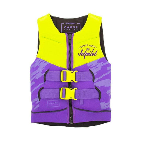 2019 Jetpilot The Cause F/E Kids Neo Vest - Yellow Level 50/Purple